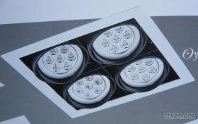 LED AR111方形投射燈, 崁燈