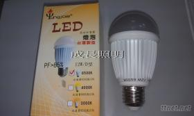 LED灯泡12W, E27螺旋头球泡灯