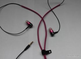 金屬拉鍊耳機