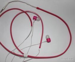 金属炫彩拉链耳机