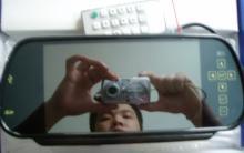 7寸AV液晶倒車後視鏡