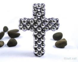 健康磁石十字架吊墜