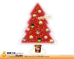 聖誕樹玻璃貼紙