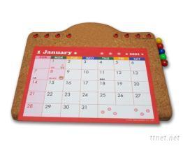 軟木月曆桌墊