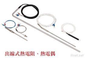 出線式熱電阻, 熱電偶