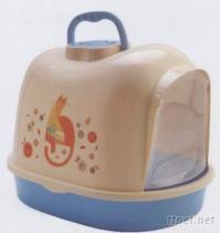 印花屋型貓砂盆(小)