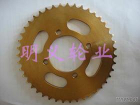 摩托车链轮(黄锌)