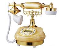 天然黃玉石仿古電話 - 小家碧玉