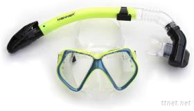潛水面鏡呼吸管套裝