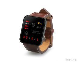 LED方型二進制手錶