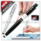 多功能筆碟LED觸控雷射筆