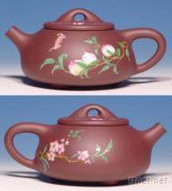 雙面彩釉壺