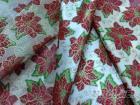 厚平織布印花聖誕紅, 緞帶布, 裝飾用布