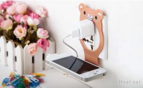 動物充電手機架
