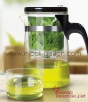 透明琉璃茶具組