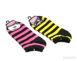 條紋船型襪