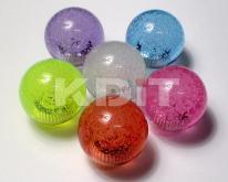 水晶氣泡桿球