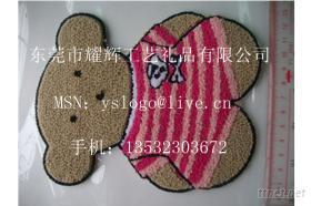 毛線刺繡商標