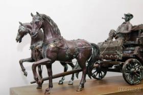 馬車脫臘銅雕藝品