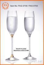 高脚水晶杯