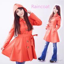 日本洋裝式時尚雨衣 / 時尚風衣