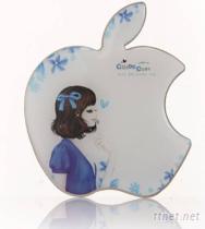 苹果不锈钢化妆镜