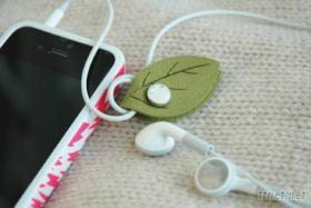 綠葉耳機線繞線器