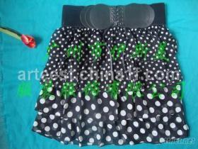 荷葉邊裙, 圓點彩色百褶裙, 燈籠裙