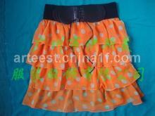 印花短裙, 日式短裙, 日系短裙, 豹紋短裙