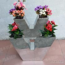 不鋼花盆, 室內外裝飾花器