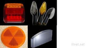 车灯, 曲面模芯, 反光片