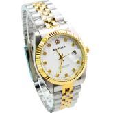 男士防水錶, 日曆鋼帶手錶