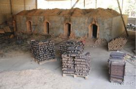 燒烤竹炭, 機制竹炭