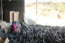 六角机制炭, 机制烧烤炭