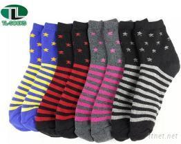 【101】星星條紋全毛巾造型襪 襪子