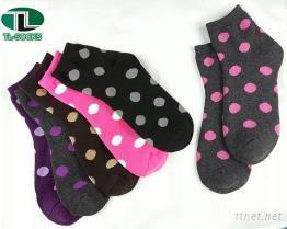 【102】大圓點全毛巾造型襪 襪子