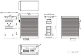 JetNet 3008G 8埠全Gigabit工業乙太網交換器