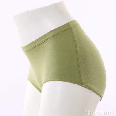 女Pima棉中高腰平口內褲
