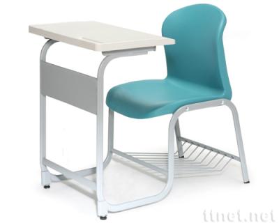 學生單人連結課桌椅