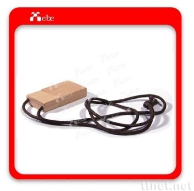 木製USB項鍊隨身碟