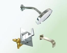 Pressure Balance Valve With Various Types Trims 4 Inches Center Set Faucet