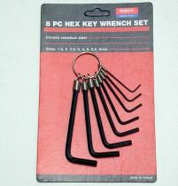 Type ensemble d'anneau de clé de clef Hex
