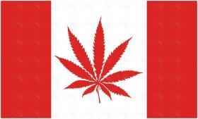 Custom Flags - Canada Marijuana Flag