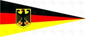 L'Allemagne avec le fanion d'aigle