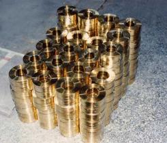 Flat brass staple wire