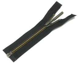 Nylon zipper w/ antique brass teet c/e