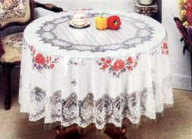 PVC Transparent Print Tablecloth