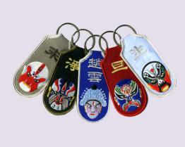 Chinese Opera Embroidered Keychains
