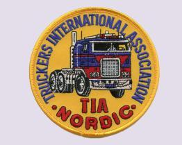 트럭 운전사 국제 연합의 자수 헝겊 조각