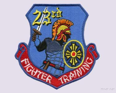 100 % Fighter Training Embroidered Patches